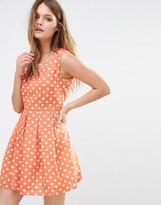 Iska Polka Dot Skater Dress