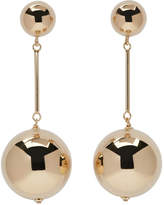J.W.Anderson Gold Sphere Drop Earrings