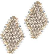 Jardin Diamond Shaped Earrings With Crystals.