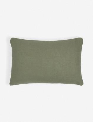 Lulu & Georgia Ines Linen Lumbar Pillow, Moss