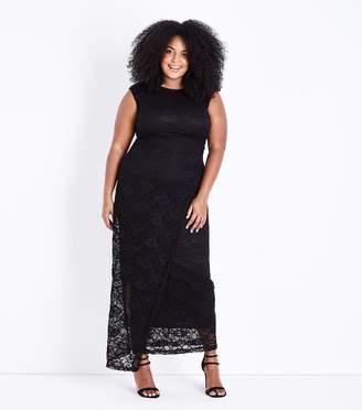 New Look Mela Curves Lace Maxi Dress