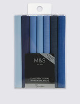 Marks And Spencer 7 Pack Supima® Cotton Blue Handkerchiefs