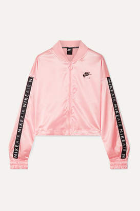 Nike Air Printed Satin Track Jacket - Baby pink