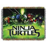"Northwest Company The TMNT ""Movie Poster"" Triple Woven Jacquard Throw (48""x60"")"