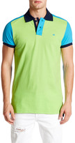 Micros Tailored Fit Colorblock Short Sleeve Polo