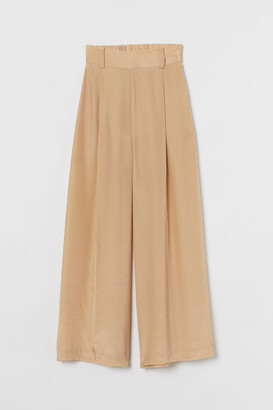 H&M Silk-blend palazzo trousers
