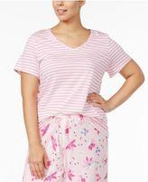 Hue Plus Size Striped Pajama T-Shirt