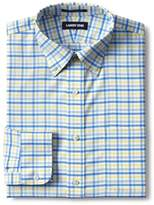 Lands' End - Blue Traditional Fit Pattern Non Iron Oxford Shirt