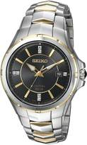 Seiko Men's Coutura Japanese-Quartz Watch with Stainless-Steel Strap Two Tone 26.3 (Model: SNE444)