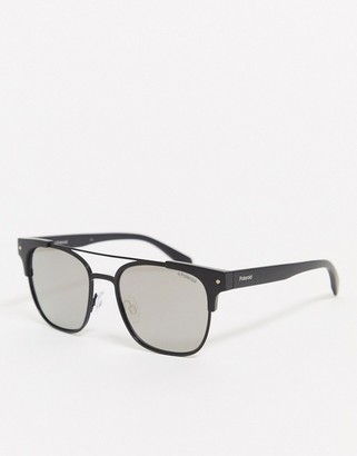 Polaroid square sunglasses in black