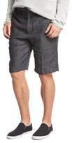 Vince Relaxed-Fit Linen Shorts, Gray