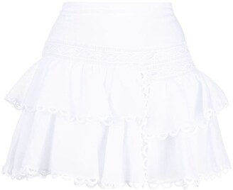 Charo Ruiz Ibiza Ruffled Mini Skirt