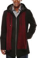 Jf J.Ferrar JF Hooded Black Coat
