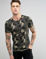 Blend of America Digi Camo Print Slim T-Shirt