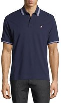 Zegna Sport Pique Polo Shirt with Iconic Flag Logo