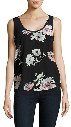 Joie Annabeth Floral Printed Silk Tank Top