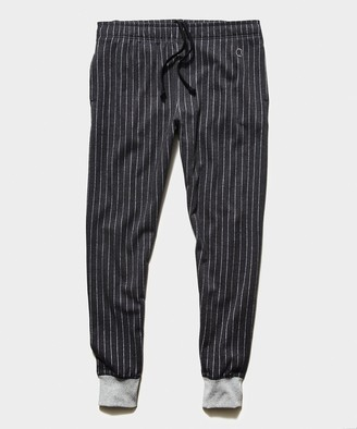 Todd Snyder + Champion Champion Wool Pinstripe Jogger in Charcoal