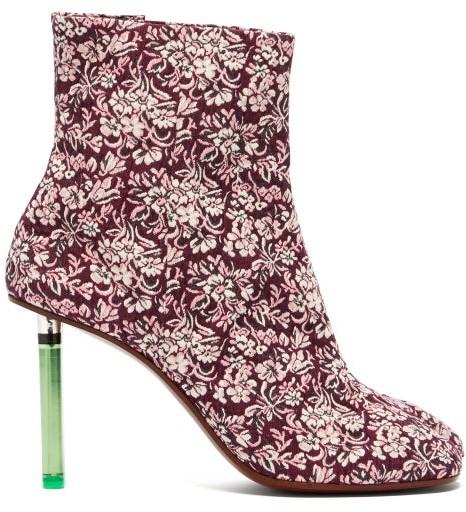 Vetements Geisha Split Toe Lighter Heel Ankle Boots - Womens - Purple