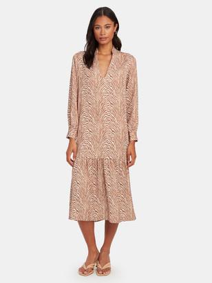 Norr Rio V-Neck Midi Dress