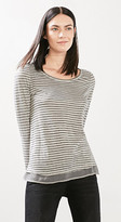 Esprit Washed long sleeve top w a fabric hem