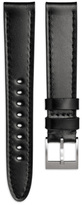 Uniform Wares Men's shell cordovan leather watch strap in black with brushed steel buckle