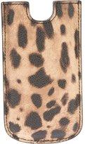 Dolce & Gabbana leopard print phone case - unisex - PVC - One Size
