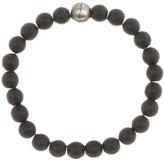 Steve Madden Black Onyx Beaded Stretch Bracelet