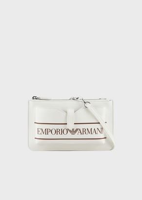 Emporio Armani Mobile Phone Pochette With Maxi Logo