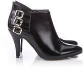 Wallis Black Patent Pointed Shoe Boot