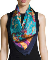 Salvatore Ferragamo Silk French Escape Scarf
