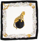 Cartier Silk Jeweled Print Scarf