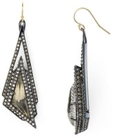 Alexis Bittar Crystal Stepped Pyrite Drop Earrings