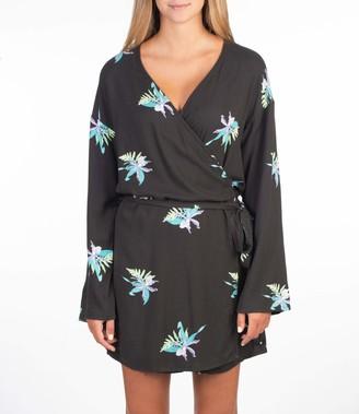 Hurley Women's W Tama Wrap Dress LS Casual