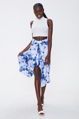 Forever 21 Tie-Dye Handkerchief Skirt