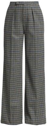 Loro Piana Louis Overcheck Cashmere Pants