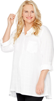Motherhood Plus Size Button Front Maternity Shirt
