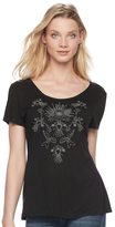 Rock & Republic Women's Strappy Embroidered Tee