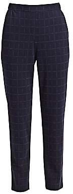 St. John Women's Windowpane Doubleface Jersey Pants