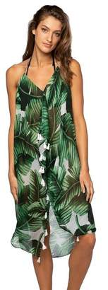 Pool' Subtle Luxury Pool To Party Palm Maxi Tassel Dress