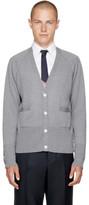 Thom Browne Grey Raglan Sleeve V-neck Cardigan