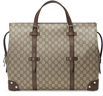 Gucci Duffle bag with leather details