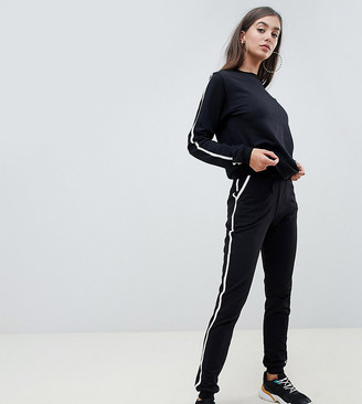 Asos DESIGN Tall tracksuit sweat / basic jogger with tie with contrast binding