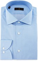 Ike Behar Gold Label Milano Mini-Houndstooth Dress Shirt, Sky Blue