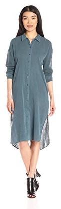 Stateside Women's Bubble Gauze Shirt Dress