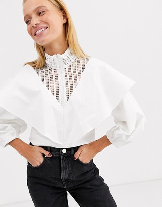 ASOS lace insert cotton top