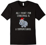 All I Want For Christmas Is A Hippopotamus Lover Funny Shirt