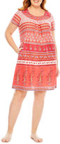 Asstd National Brand Knit Nightgown-Plus