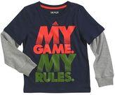 "adidas Boys 4-7x My Game. My Rules."" Tee"
