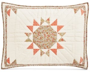 Martha Stewart Collection Artisan Sunburst Patchwork Standard Sham, Created for Macy's