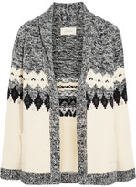 The Great Bonfire Intarsia Cotton-blend Cardigan - Cream